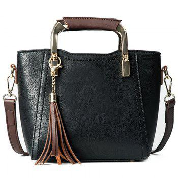 Tassels Metal Handle Handbag