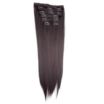 Clip In Long Straight Hair Extension - COFFEE COFFEE