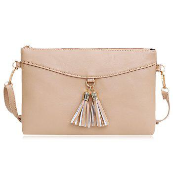 Faux Leather Tassels Crossbody Bag