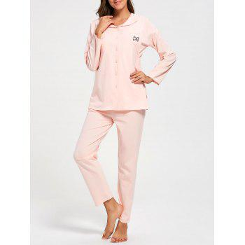 Cotton Button Up Nursing Pajamas Set