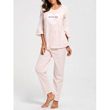 Mesh Insert Cotton Nursing Pajamas Set