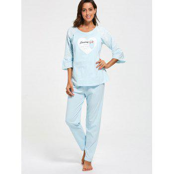 Mesh Insert Cotton Nursing Pajamas Set - XL XL