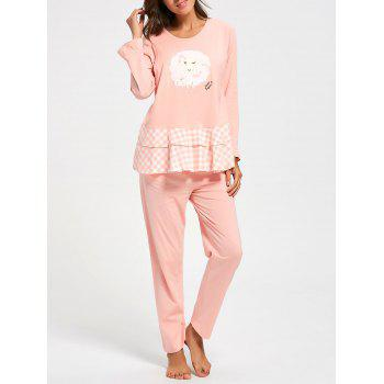 Flounce Plaid Cotton Nursing Loungewear Set