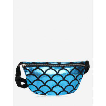 Scale Pattern Color Block Fanny Pack
