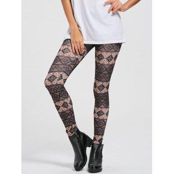 Geometric Patterned Print Skinny Leggings