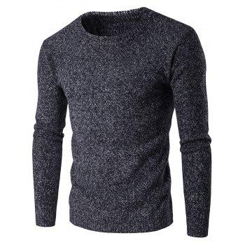 Crew Neck Pullover Heathered Jumper