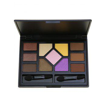 11 Colors Eyeshadow Brow Powder Cosmetic Palette with Brushes