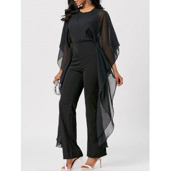 Mesh Insert High Waist Jumpsuit