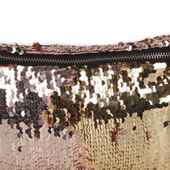 Sequins Color Block Fanny Pack - Champagne Or