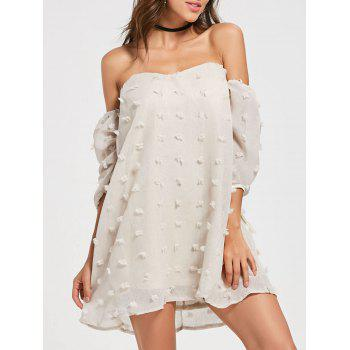 Off Shoulder Mini Tulle Mesh Dress