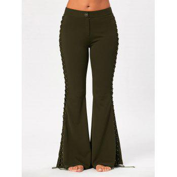 Flare Pants with Criss Cross Lace Up - M M