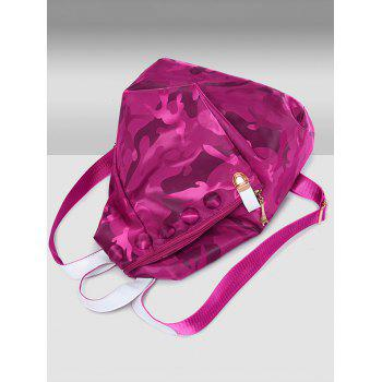 Camouflage Pattern Nylon Backpack -  VIOLET