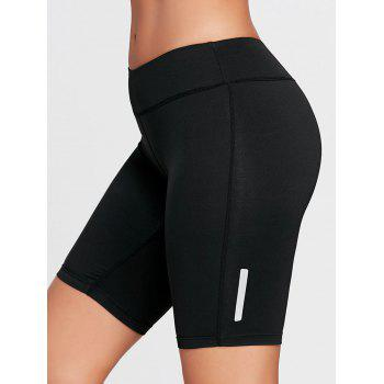 Stretch Tight Running Shorts - BLACK XS