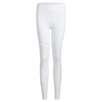 High Rise Mesh Panel Workout Leggings - WHITE L