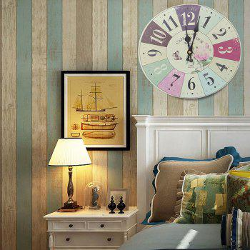 Butterfly Floral Wood Round Analog Wall Clock - COLORFUL GEOMETRIC COLORFUL GEOMETRIC