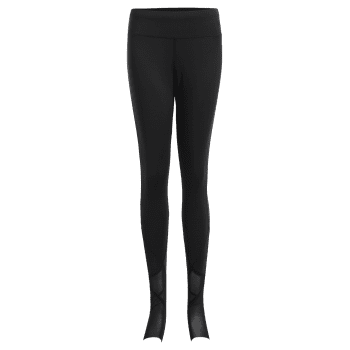 High Waist Yoga Stirrup Leggings - BLACK L
