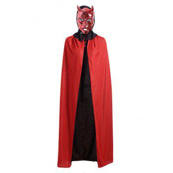 Creative Halloween Cosplay Ghost Hooded Long Cloak - RED