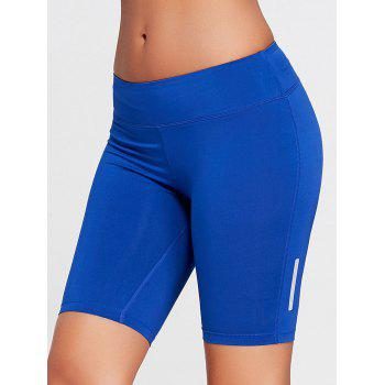 Stretch Tight Running Shorts - BLUE BLUE