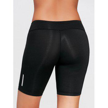 Stretch Tight Running Shorts - BLACK XL