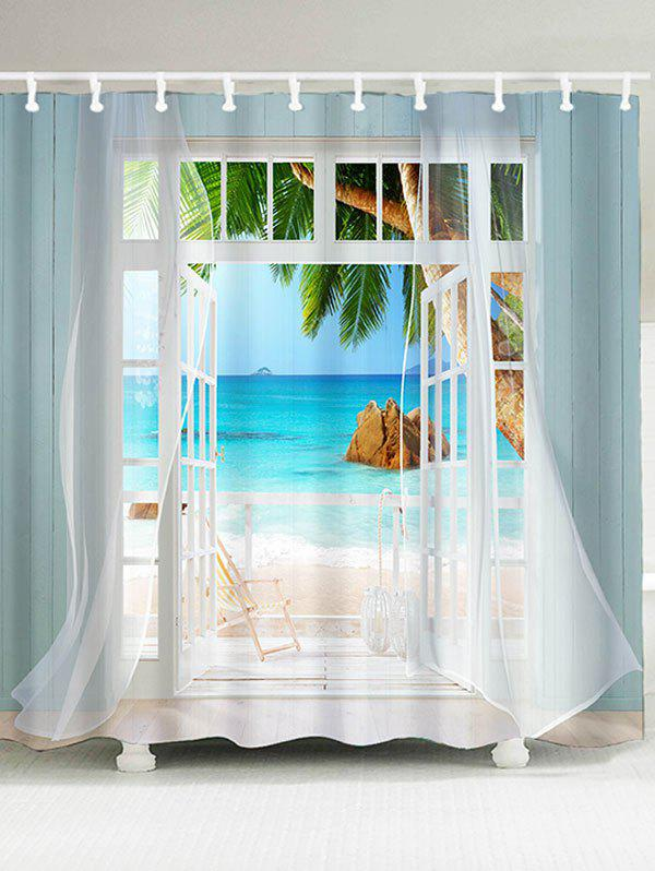 Waterproof window curtains