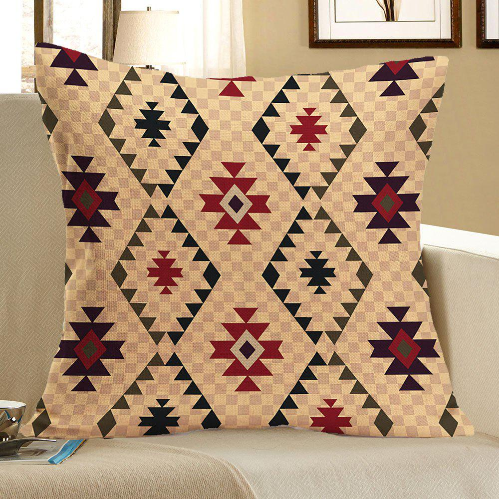 Graphic Pattern Linen Pillow Case - COLORFUL W18 INCH * L18 INCH