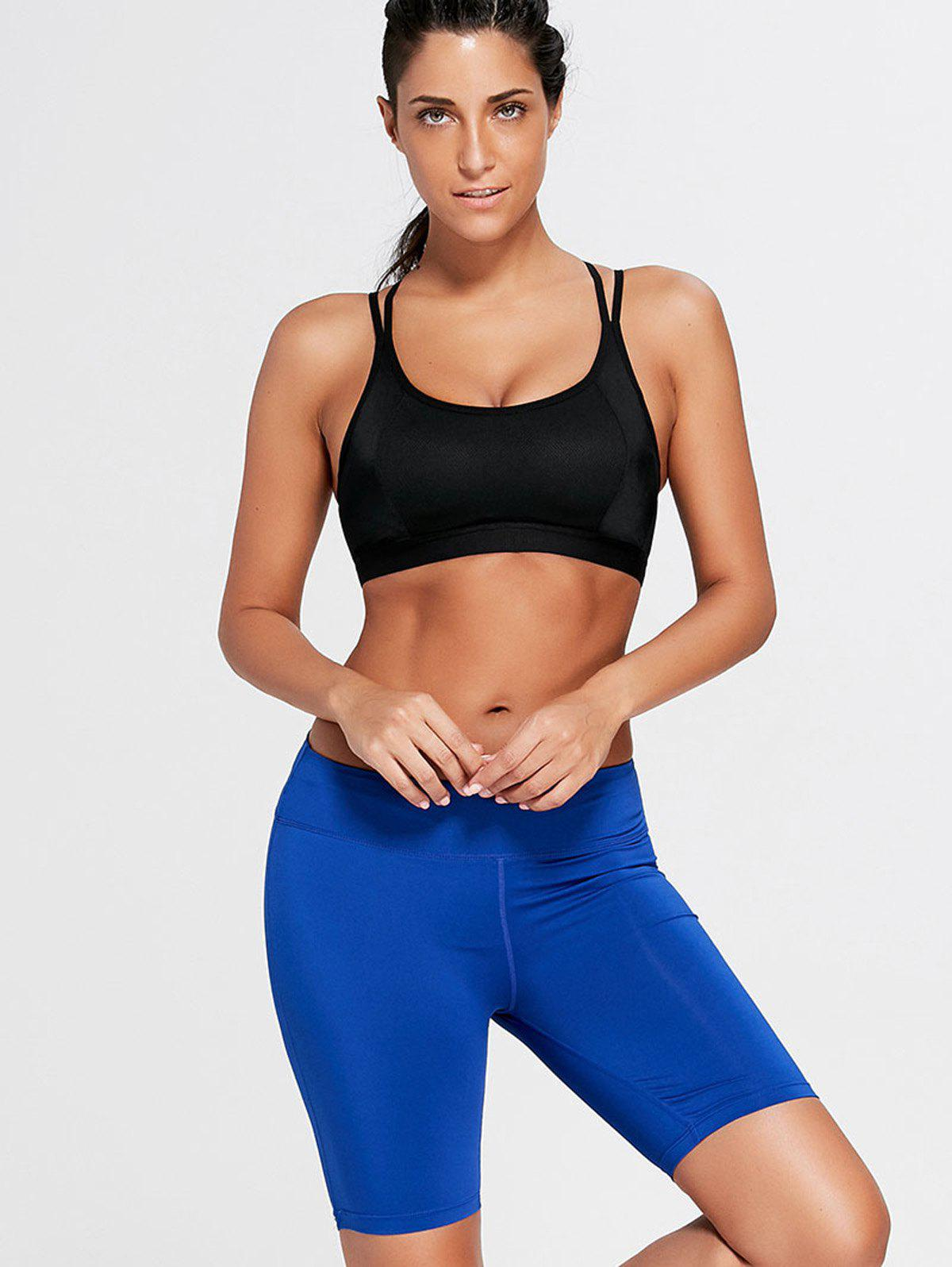 Stretch Tight Running Shorts - BLUE M
