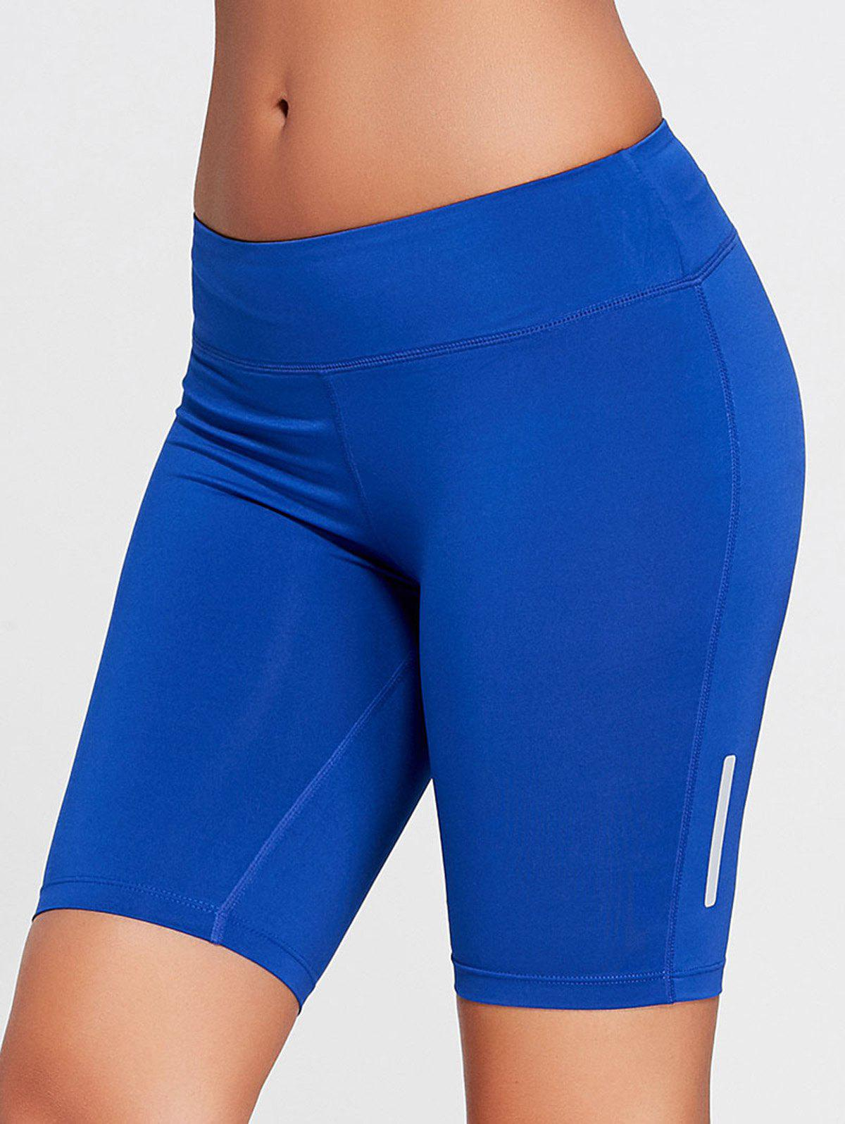 Stretch Tight Running Shorts - BLUE L