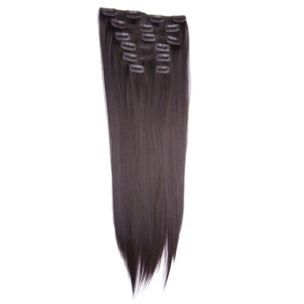 2018 Clip In Long Straight Hair Extension Coffee In Hair Extensions