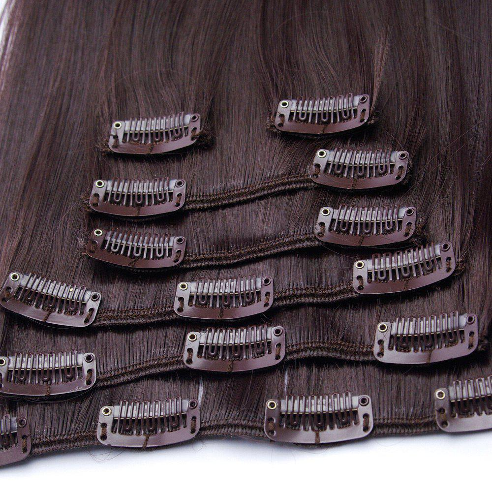 Clip In Long Straight Hair Extension - COFFEE