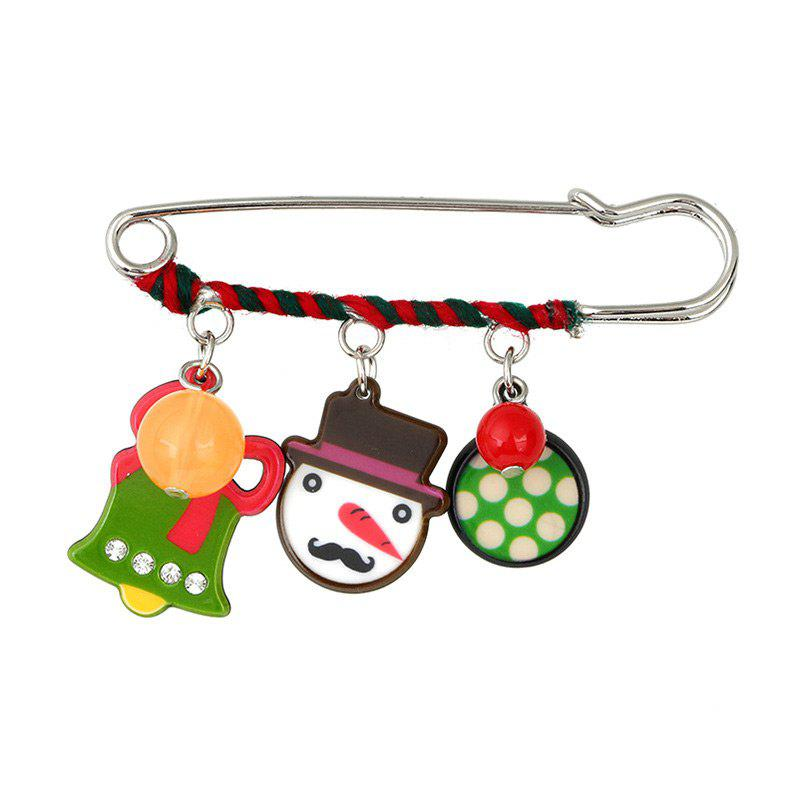 Charm Rhinestone Christmas Bell Snowman Brooch replacement lcd display panel screen for ipad