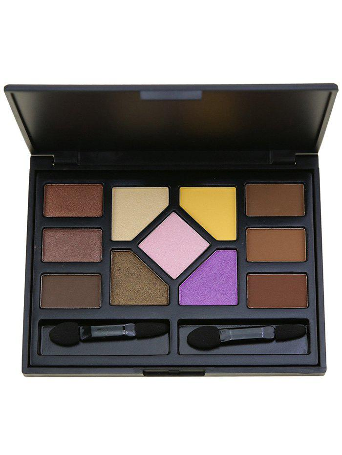 Image of 11 Colors Eyeshadow Brow Powder Cosmetic Palette with Brushes
