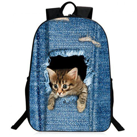 9dfdb351a9 LIMITED OFFER  2019 3D Animal Pattern Zipper Backpack In BLUE ...