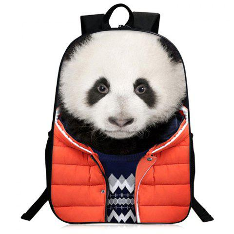 90bb7dfda8 41% OFF  2019 3D Animal Pattern Zipper Backpack In WHITE