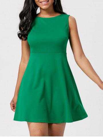 Mini High Waist A Line Skater Dress