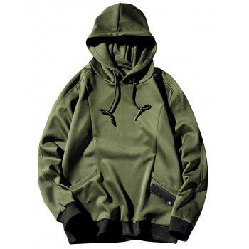 Patch Pocket Pullover Plain Hoodie