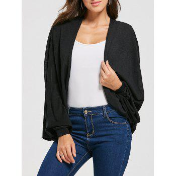 Batwing Sleeve Draped Cardigan