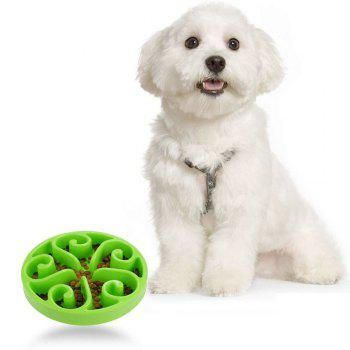 Slow Food Pet Feeder Prevent Choking Dog Bowl - GREEN GREEN
