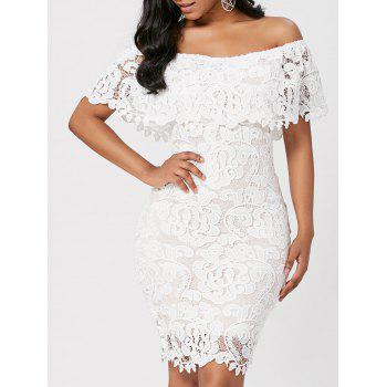 Off The Shoulder Bodycon Lace Dress