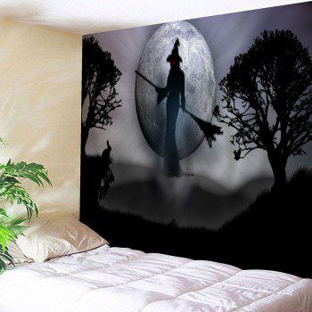 Wall Hanging Halloween Witch Graphic Tapestry
