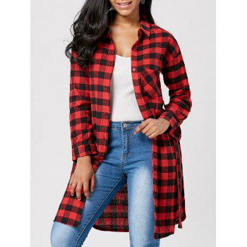Plaid Flannel Longline Shirt