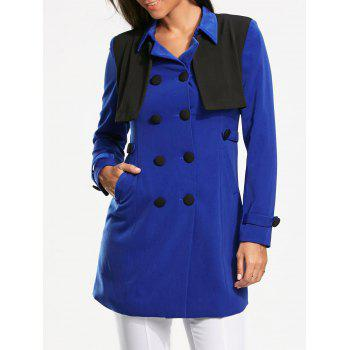 Double Breasted Bolero Panel Pea Coat