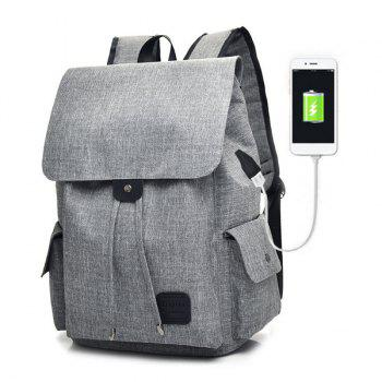 Drawstring USB Interface Backpack