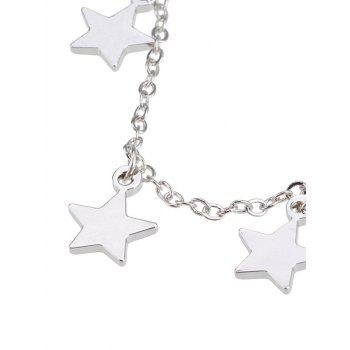 Star Charm Collarbone Chain Necklace - SILVER