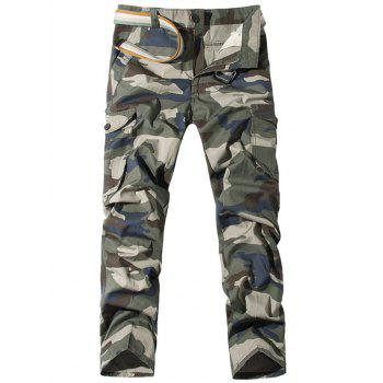 Pockets Straight Leg Camo Cargo Pants