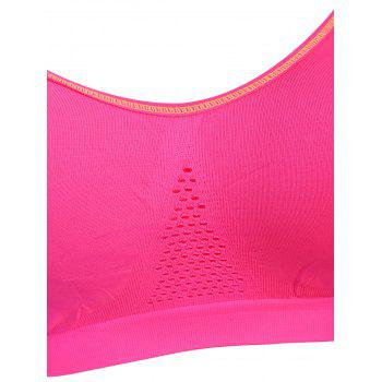 Adjustable Padded Comfortable Sports Bra - LIGHT PINK LIGHT PINK
