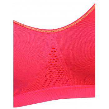 Adjustable Padded Comfortable Sports Bra - RED M