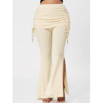 High Waisted Knitted Bell Bottom Pants