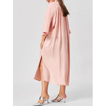 Plus Size Flare Sleeve Shirt Dress