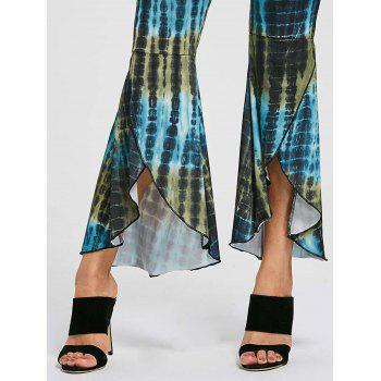 Flare Cover Up High Low Pants - COLORMIX S