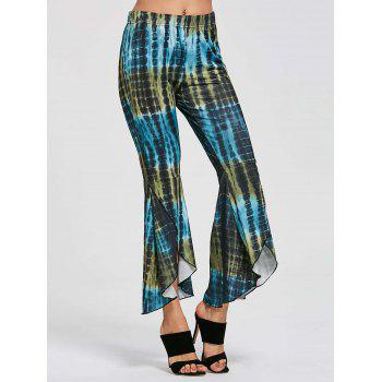 Flare Cover Up High Low Pants - COLORMIX M